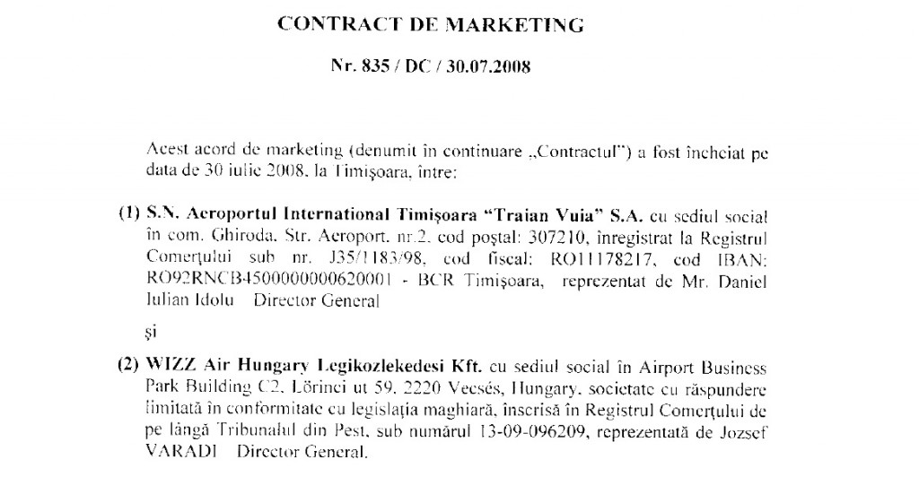 contract de marketing
